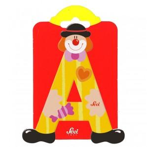 Holzbuchstabe Clown A