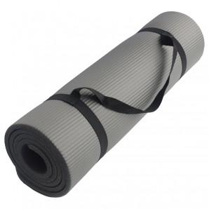 Fitnessmatte 10mm grau
