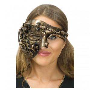 Maske Steampunk Halb