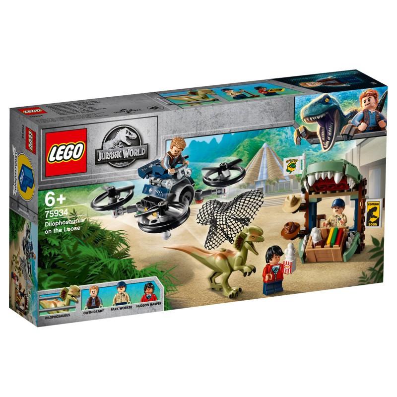Dilophosaurus auf der Flucht Lego Jurassic World