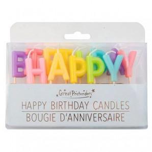 Kerzen Happy Birthday Rainbow