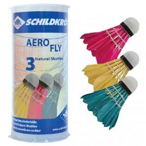 Badminton Ball Aero Fly 3 Natur-Federbälle