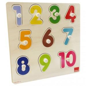 Puzzle Zahlen 10-teilig,