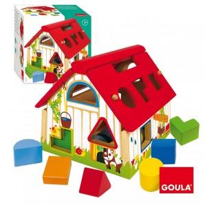Haus geometrische Formen 21x21 cm,