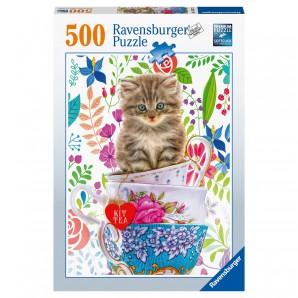 Puzzle Kätzchen im Tässchen