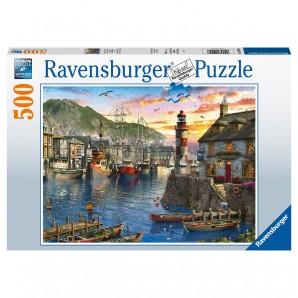 Puzzle Morgens am Hafen