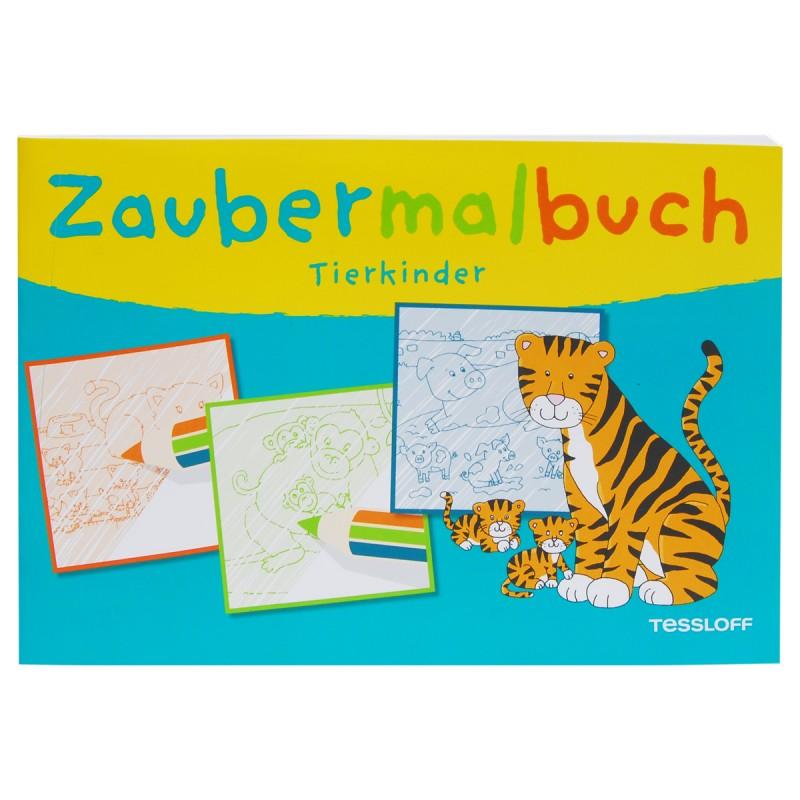 Zaubermalbuch Tierkinder