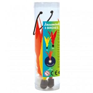 Jazzminton Birdies 3 Stk. Ersatzfedern für Jazzminton