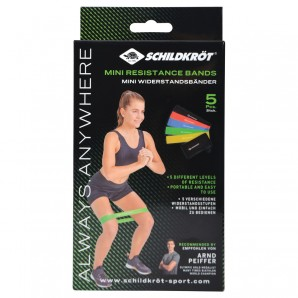 Mini Resistance Band 5er Set 5 Bänder in 5 Härtegraden