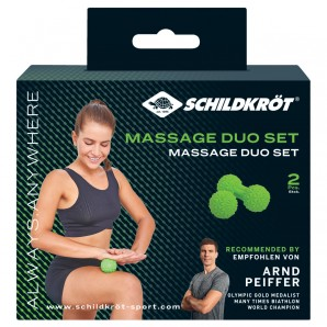 Massage Duo Set Duo-Ball 6x12 cm