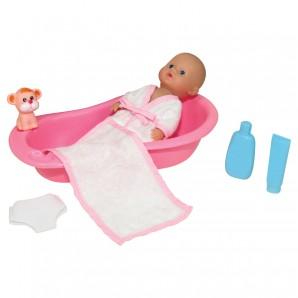 Puppe Badebaby mit Wanne und Zubehör,