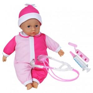 Puppe mit Doktor-Spielset und viel Zubehör,