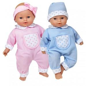 Puppe Soft Baby 2-fach ass. rosa/blau,