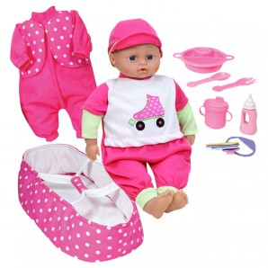 Puppenset Baby mit Sound Puppe 40 cm,