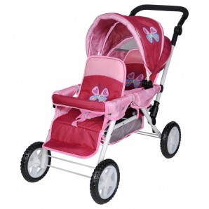 Zwillingsbuggy Butterfly 40x38x75 cm,