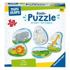 Bade-Puzzles Zoo d/f/i 5 zweiteilige Puzzle