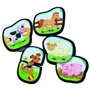 Bade-Puzzles Bauernhofd/f/i 5 zweiteilige Puzzle
