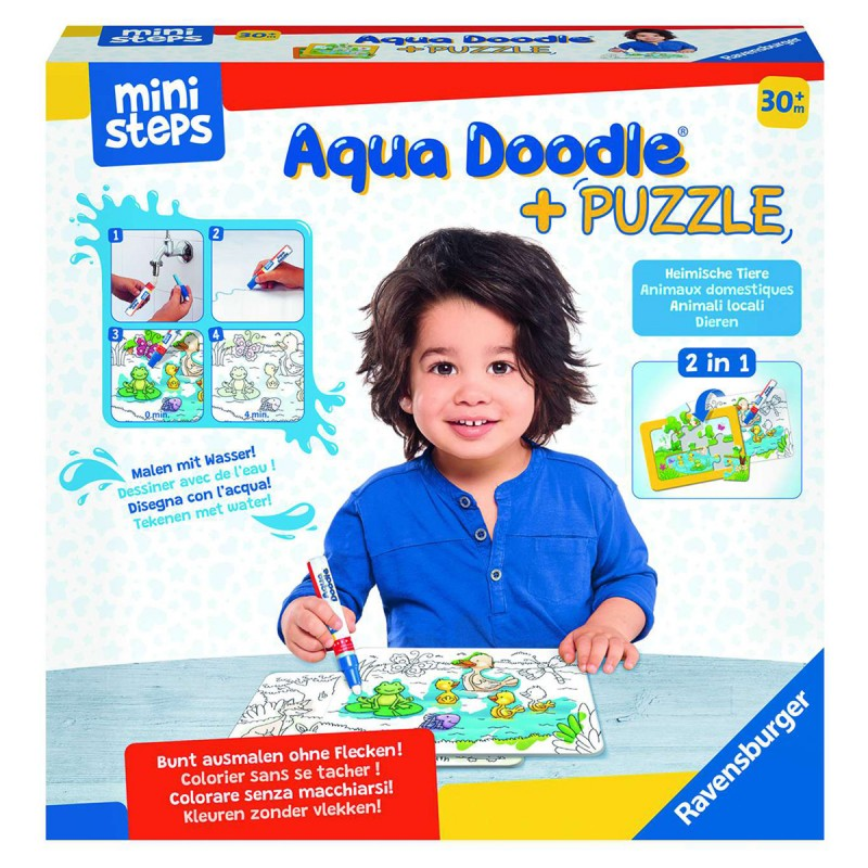 Aqua Doodle Puzzle Heimische Tiere
