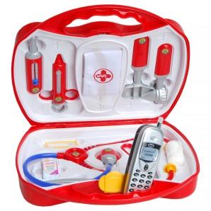 Arztkoffer mit Handy 27x24x10 cm,