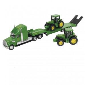 Tieflader mit 2 Traktoren Metall,