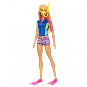 Barbie mit Schnorchelzubehör Magie der Delfine,