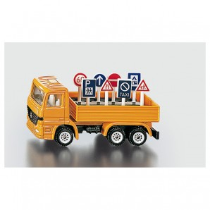 LKW mit Verkehrszeichen 1:64,
