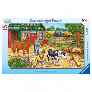 Puzzle Bauernhofleben 15 Teile,