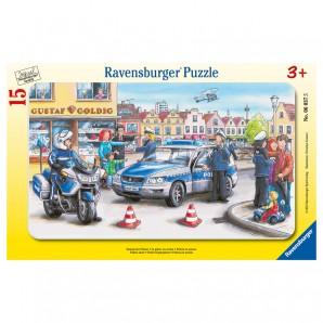 Puzzle Einsatz der Polizei 15 Teile,