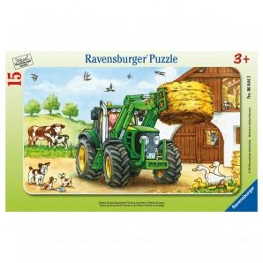 Puzzle Traktor a.d.Bauernhof 15 Teile,