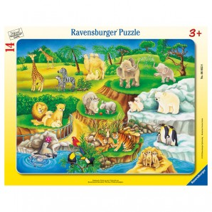 Puzzle Zoobesuch 14 Teile,