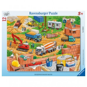 Puzzle Auf der Baustelle 12 Teile,