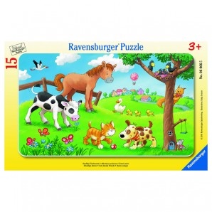 Puzzle Knuffige Tierfreunde 15 Teile,