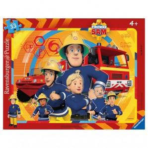 Puzzle Feuerwehrmann Sam 33 Teile,
