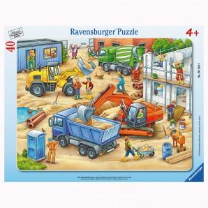 Puzzle Baustellenfahrzeuge 40 Teile,