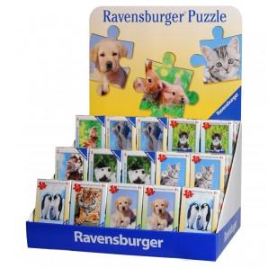 Puzzle Mini Tiere, ass. 45 Stück im Display