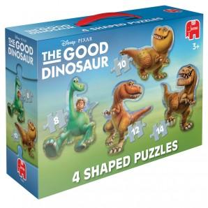 Puzzle Der gute Dino 4 in 1 ab 3 Jahren,