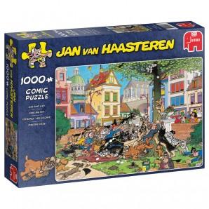 Puzzle Fang die Katze! 1000 Teile