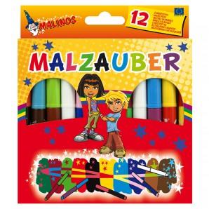 Malinos Malzauber 12-er 10 bunte u. 2 weisse Stifte