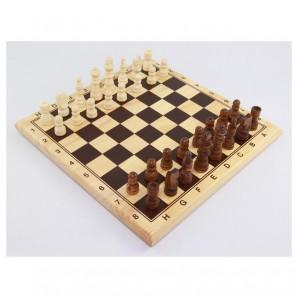 Schachspiel 29x29 cm Brett MDF furniert bedruckt