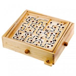 Kugel Labyrinth Holz 34.5x30x8 cm,