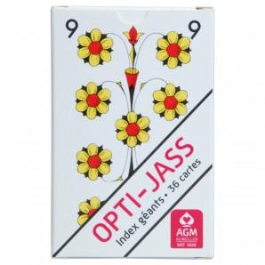 Jasskarten Opti extra grossen Zahlen