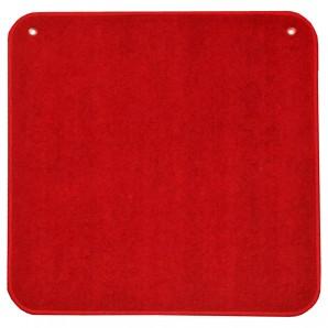 Jassteppich uni, rot 60x60 cm,