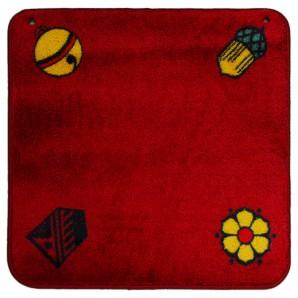 Jassteppich rot deutsch 60x60 cm,