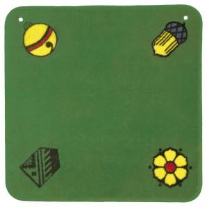 Jassteppich grün, deutsch 60x60 cm,