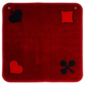 Jassteppich rot, Piquet 60x60 cm,