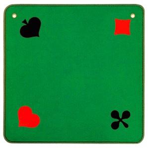 Jassteppich grün Piquet 60x60 cm,