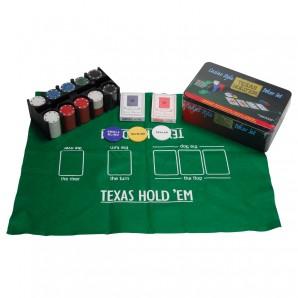 Poker-Set Texas Hold'em in Metallbox,