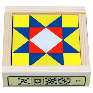 Würfelmosaik 16 Teile Buchenholz 12.8x12.8 cm