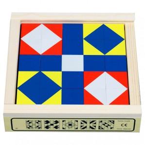 Würfelmosaik 25 Teile Buchenholz 15.2x15.2 cm