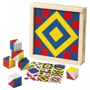Würfelmosaik 36 Teile Buchenholz 17.6x17.6 cm